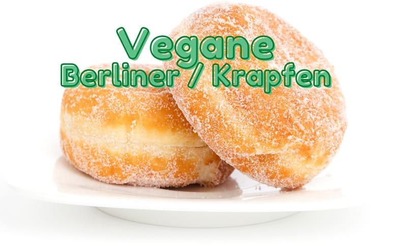 Vegane berliner krapfen
